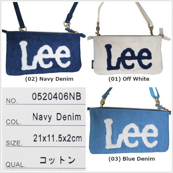 Lee  ロゴ サガラ刺繍 ショルダーバッグ サコッシュ|centas|03