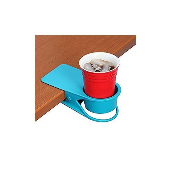 ドリンク ホルダー クリップ式 取って付き ペットボトル マグカップ 使いやすい 赤 青 緑 黒 白 centerwave 02