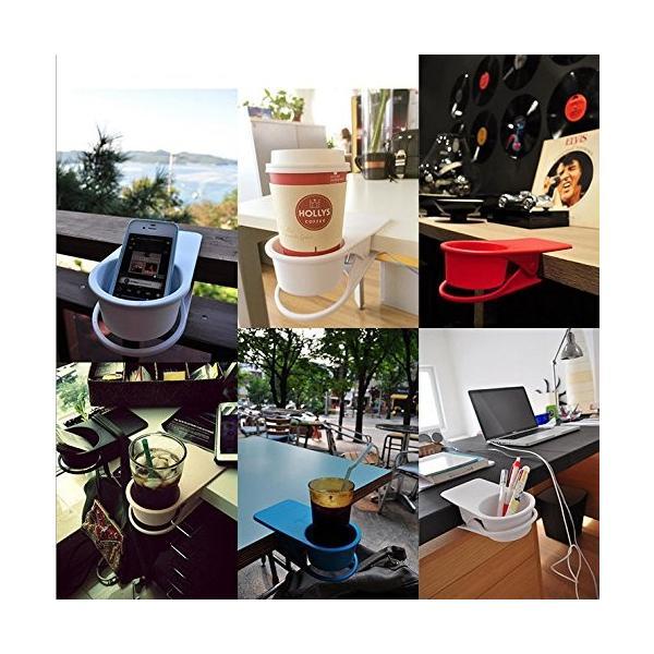 ドリンク ホルダー クリップ式 取って付き ペットボトル マグカップ 使いやすい 赤 青 緑 黒 白 centerwave 05