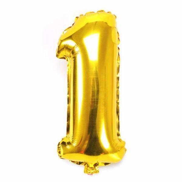 誕生日 風船 バルーン 数字 ナンバーバルーン ゴールド  パーティー プレゼント 送料無料|centerwave|02