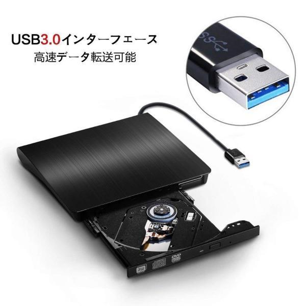 DVDドライブ 外付け USB3.0 CD DVD 書き込み windows mac 対応 薄型 高速 軽量 centerwave 03