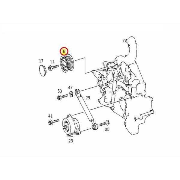 ≪即納≫アイドラープーリー メルセデスベンツ Eクラス W211 E240 E250 E280 E300 E320 E350 E500 M112/V6 M113/V8 M272/V6エンジン|centpiashop|02