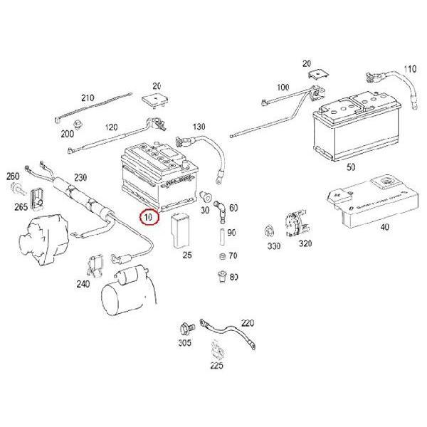 純正 フロント サブバッテリー(スターター&SBC用) 35Ah(520A) メルセデスベンツ Sクラス W221 S350 S500 S550 S600 S65AMG 2305410001a|centpiashop|02