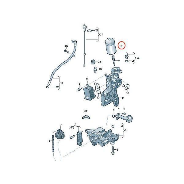 ≪即納≫オイルフィルター アウディ Q3 8UCPSF oc456 06J115403J H14W30 AUDI エンジンオイルエレメント centpiashop 02