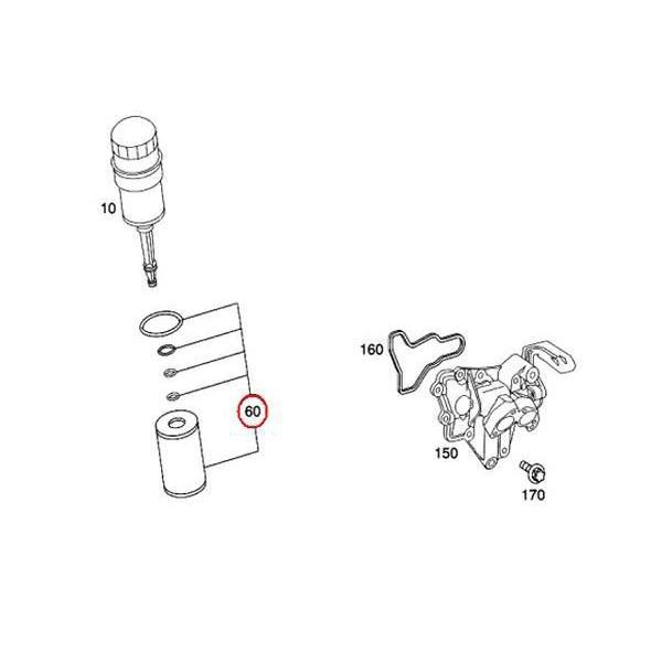 オイルフィルター メルセデスベンツ Sクラス W220 S600 S65AMG M275/V12エンジン ox383 2751800009 オイルエレメント|centpiashop|02