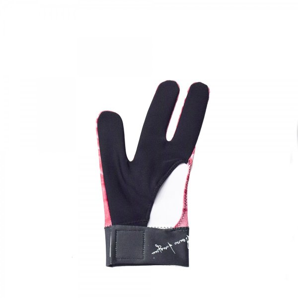 【ビリヤード用品】Longoni グローブ アニマル(クロコダイルピンク)左手着用 central-inc 02