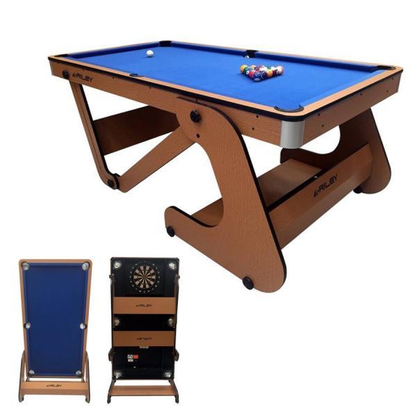 Riley 6フィート 自立式ポケットテーブル ビリヤード台 RFPT-6(ソフトチップダーツボード付き)