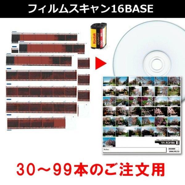 フィルムスキャン 16BASE 35ミリフィルム・APSフィルムをDVDに 30本〜99本までのご注文用