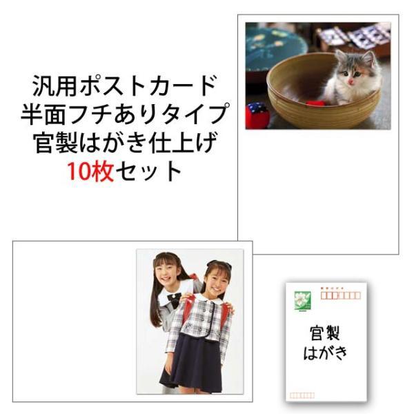 結婚報告 出産報告 季節のお便りにも 写真入りポストカード 写真半面ふちありタイプ 文字なしポストカード 官製はがき仕上げ 10枚セット