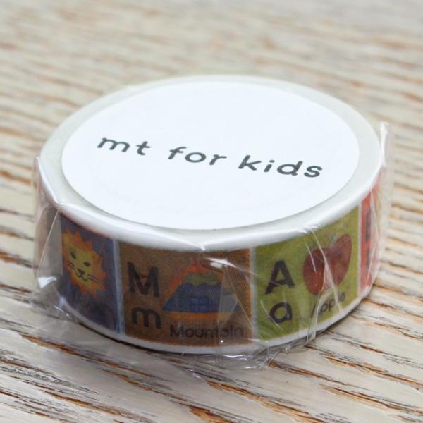 マスキングテープ カモイ キッズ アルファベット A-M 1巻 クリックポスト発送可