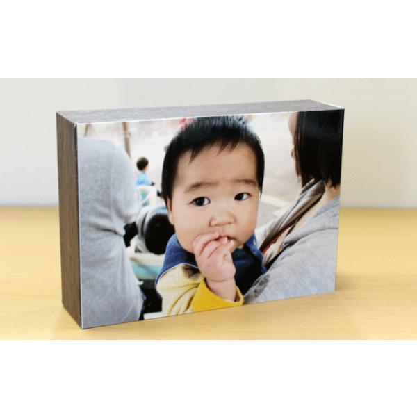 シャコラ 壁アルバム 写真を貼って、飾れるフォトパネル shacolla BOX ブラウンウッド Lサイズ用|centts