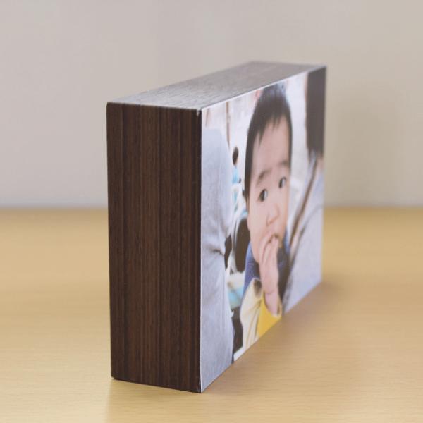 シャコラ 壁アルバム 写真を貼って、飾れるフォトパネル shacolla BOX ブラウンウッド Lサイズ用|centts|02