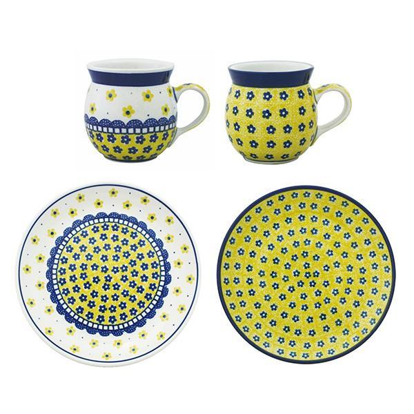 【オープン1周年セット】 食器セット ポーランド食器 ポーリッシュポタリー (セラミカ / ツェラミカ アルティスティチナ) ギフトにも|ceramika-artystyczna