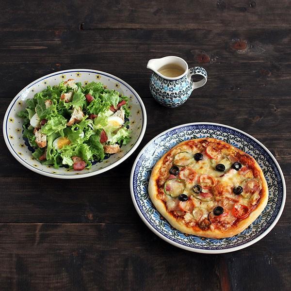 ピザ・サラダセット ポーランド食器 ポーリッシュポタリー (セラミカ / ツェラミカ アルティスティチナ) ギフトにも|ceramika-artystyczna