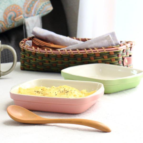 スクエアスタッキンググラタン皿 国産 美濃焼 グラタン ラザニア オーブン可 楕円 耐熱皿 ミニパイ 食器 うつわ 器 皿 お皿 陶器 磁器