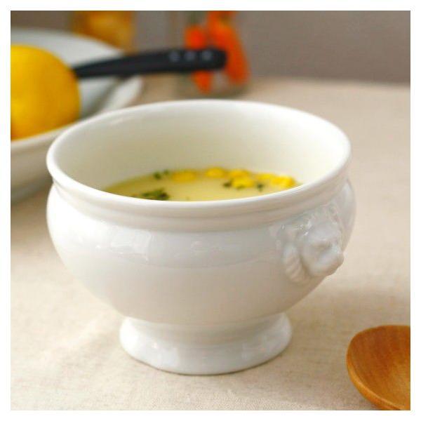 ライオントリフボール Lサイズ 国産 美濃焼 スープを入れて、パイ生地をかぶせ、オーブンへ 白い食器 スープ グラタン オーブン