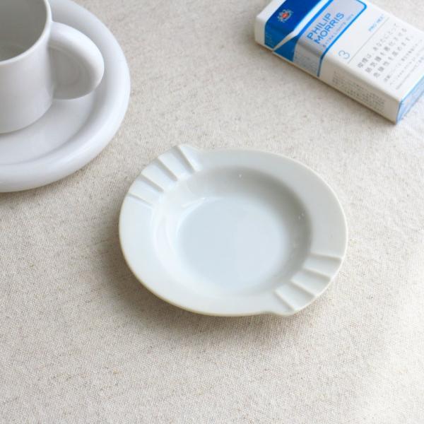 シェル灰皿 12.5cm 国産 美濃焼 灰皿 アシュトレイ 白い陶器 カフェ 器 お皿 皿 食器 陶器 磁器 陶磁器 シンプル おしゃれ オシャレ