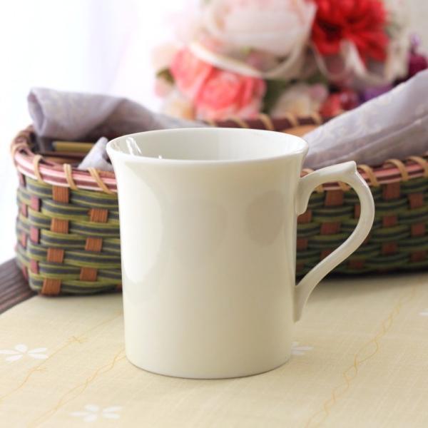 マグカップ ナチュラルフレアー 国産 美濃焼 洋食器 カフェ 白い食器 器 皿 陶器 磁器 シンプル おしゃれ オシャレ かわいい カワイイ