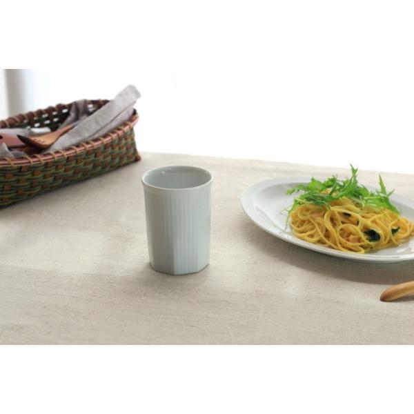 カップ ストライプ 縦じまフリーカップ 200cc 洋食器 カフェ 白い食器 ポーセリンアート 食器 陶器 ぐい呑 タンブラー湯飲み 国産 美濃焼|cerapockke|03