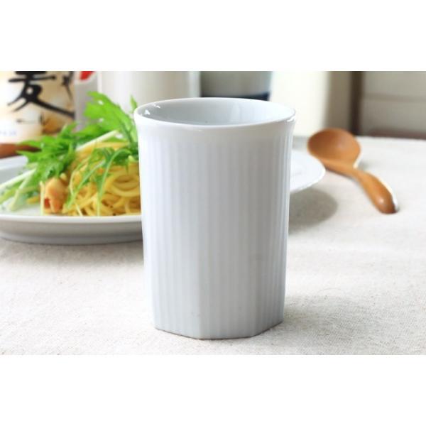 カップ ストライプ 縦じまフリーカップ 200cc 洋食器 カフェ 白い食器 ポーセリンアート 食器 陶器 ぐい呑 タンブラー湯飲み 国産 美濃焼|cerapockke|04