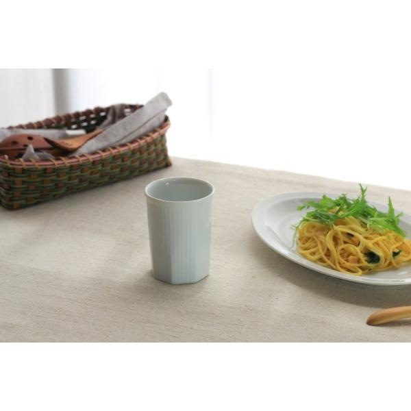 カップ ストライプ 縦じまフリーカップ 200cc 洋食器 カフェ 白い食器 ポーセリンアート 食器 陶器 ぐい呑 タンブラー湯飲み 国産 美濃焼|cerapockke|05