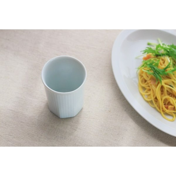 カップ ストライプ 縦じまフリーカップ 200cc 洋食器 カフェ 白い食器 ポーセリンアート 食器 陶器 ぐい呑 タンブラー湯飲み 国産 美濃焼|cerapockke|06