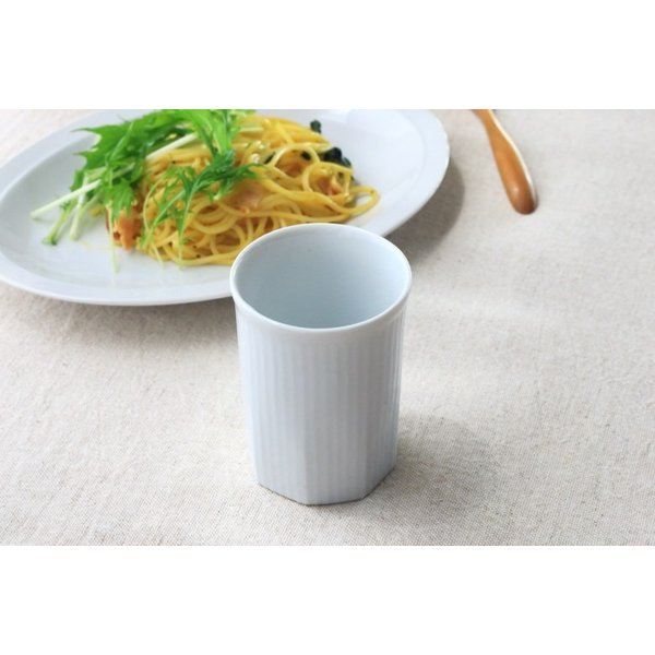 カップ ストライプ 縦じまフリーカップ 200cc 洋食器 カフェ 白い食器 ポーセリンアート 食器 陶器 ぐい呑 タンブラー湯飲み 国産 美濃焼|cerapockke|07