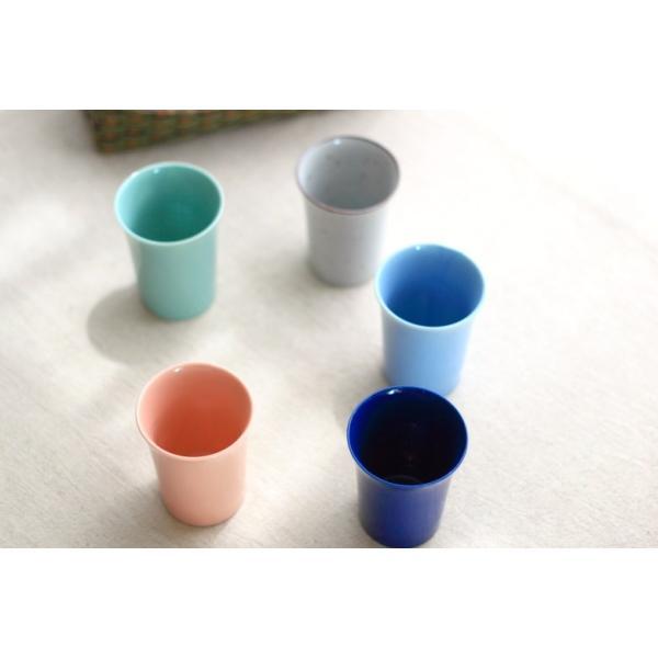カップ 6カラーから選べるフリーカップ 洋食器 食器 陶器 磁器 シンプル オシャレ かわいい コップ 湯のみ 細い 持ちやすい ぐい呑 国産 美濃焼|cerapockke|04
