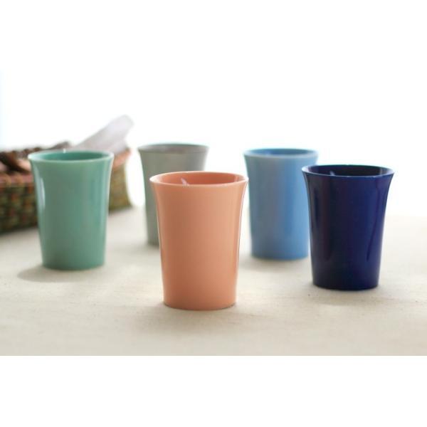 カップ 6カラーから選べるフリーカップ 洋食器 食器 陶器 磁器 シンプル オシャレ かわいい コップ 湯のみ 細い 持ちやすい ぐい呑 国産 美濃焼|cerapockke|05