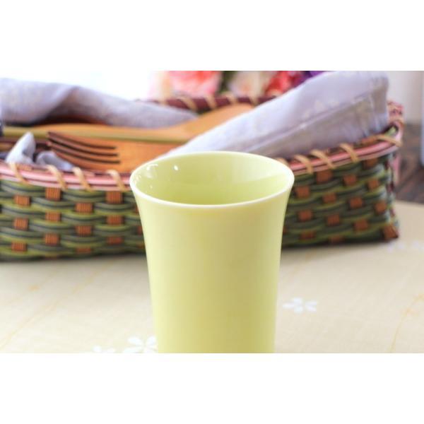 カップ 6カラーから選べるフリーカップ 洋食器 食器 陶器 磁器 シンプル オシャレ かわいい コップ 湯のみ 細い 持ちやすい ぐい呑 国産 美濃焼|cerapockke|06