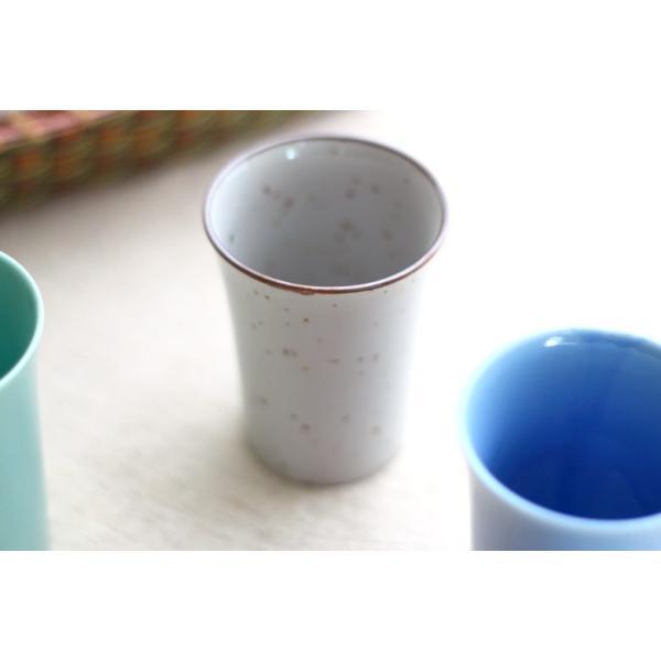 カップ 6カラーから選べるフリーカップ 洋食器 食器 陶器 磁器 シンプル オシャレ かわいい コップ 湯のみ 細い 持ちやすい ぐい呑 国産 美濃焼|cerapockke|07