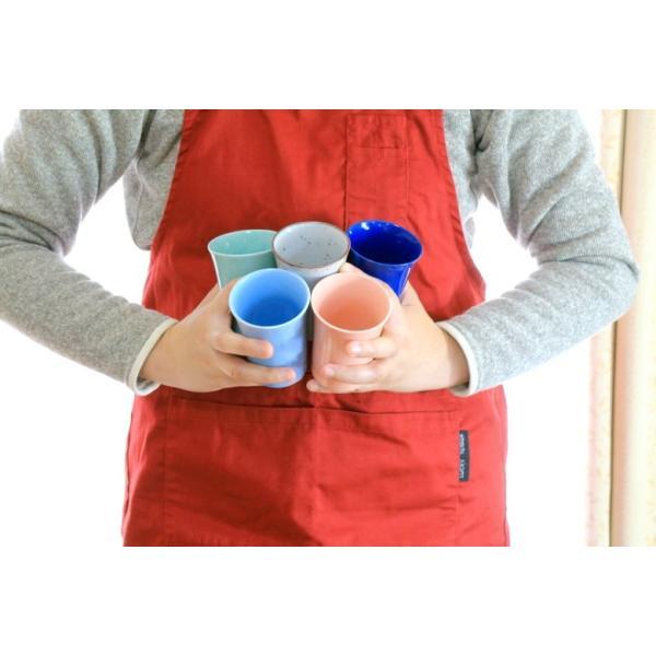 カップ 6カラーから選べるフリーカップ 洋食器 食器 陶器 磁器 シンプル オシャレ かわいい コップ 湯のみ 細い 持ちやすい ぐい呑 国産 美濃焼|cerapockke|08