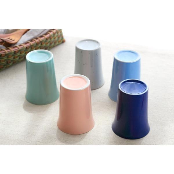カップ 6カラーから選べるフリーカップ 洋食器 食器 陶器 磁器 シンプル オシャレ かわいい コップ 湯のみ 細い 持ちやすい ぐい呑 国産 美濃焼|cerapockke|09