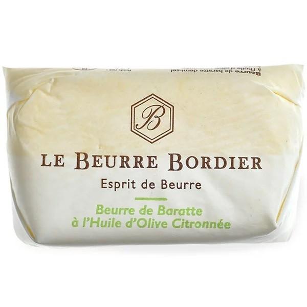 フランス産 ボルディエ[Bordier]バター オリーブオイル&レモン125g[冷蔵/冷凍]
