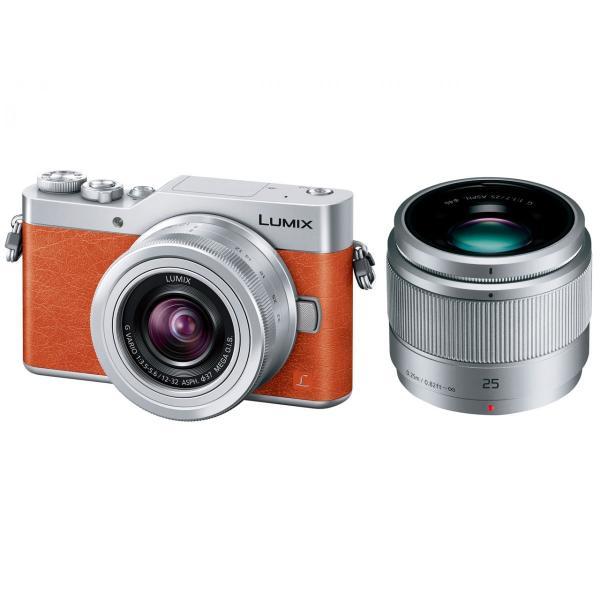 パナソニック(Panasonic)ミラーレス一眼 LUMIX DC-GF9W-D ダブルレンズキット (オレンジ)新品・即納