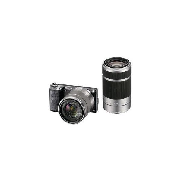 SONYα ミラーレス一眼カメラ NEX-5NY ブラック ダブルズームレンズキット(新品・即納)