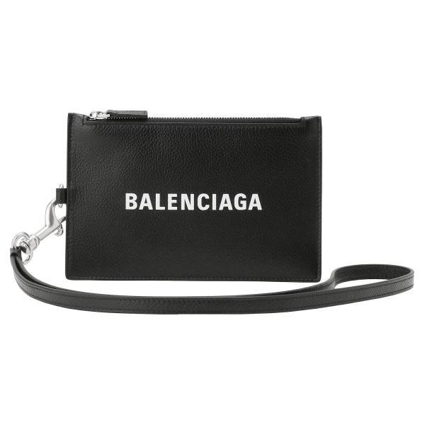 バレンシアガ BALENCIAGA 616015 1IZI3 1090 キャッシュ マルチケース カードケース、コインケース  ネックストラップ付 メンズ ハンドポーチバッグ CASH PA