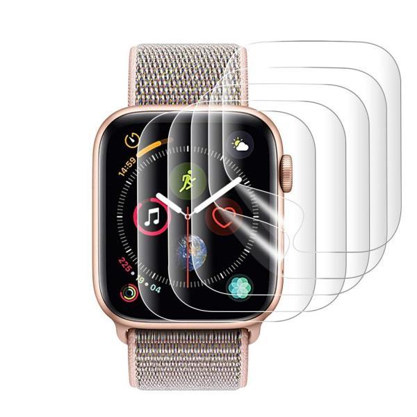 『改善版全面保護』AUNEOS Apple Watch Series 4 フィルム 44mm Apple Watch 保護フィルム TPU製