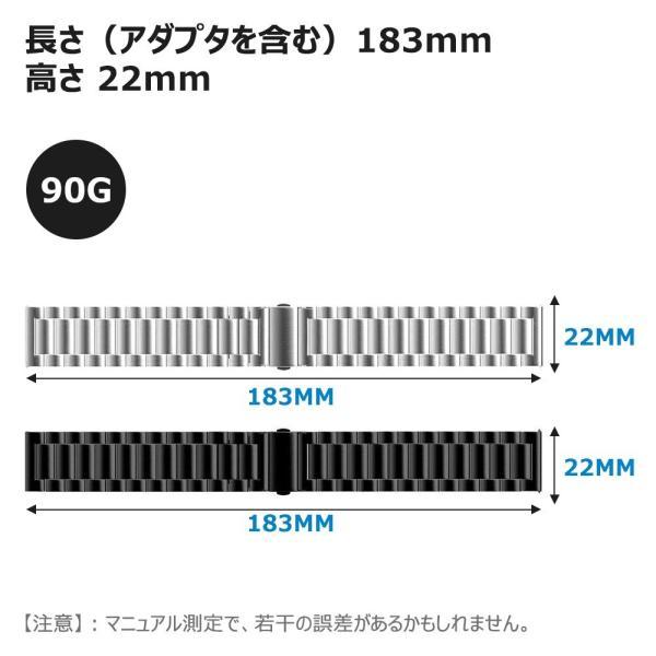 N.Oranie Samsung gear s3 classic ・Frontier MOTO ステンレスバンド 22mm Galaxy G