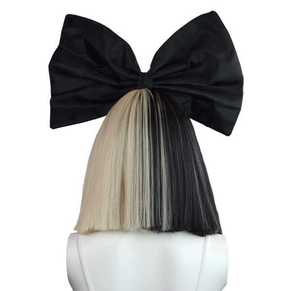 ファッションウィッグ 金と黒 かつら ちょう結び