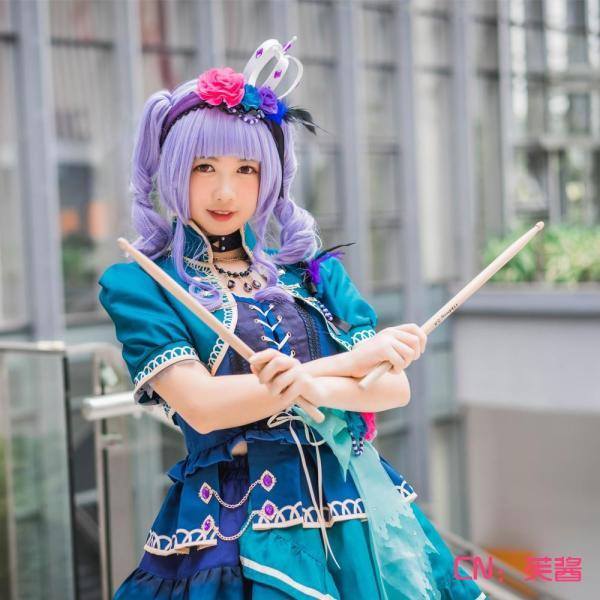送料無料!! 激安!! BanG Dream!(バンドリ) Roselia 5th Single「Opera of the wasteland」 宇田川あこ コスプレ衣装|cgcos|03