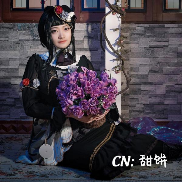 送料無料!! 激安!! BanG Dream!(バンドリ) Roselia「Neo-Aspect」 白金 燐子 コスプレ衣装|cgcos|02