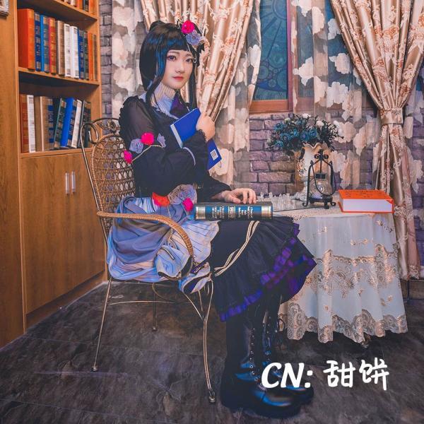送料無料!! 激安!! BanG Dream!(バンドリ) Roselia「Neo-Aspect」 白金 燐子 コスプレ衣装|cgcos|03