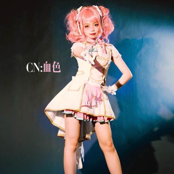 送料無料!! 激安!! BanG Dream!(バンドリ) Pastel*Palettes セカンドキービジュアル 煌めくステージへ  丸山 彩 コスプレ衣装|cgcos
