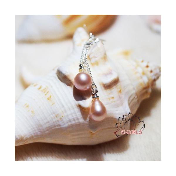 4A本真珠 天然 淡水パール 7-8mm ゆらゆら ライス型 真珠 ピアス シルバー 淡水真珠 ホワイト ピンク パープル  記念日 プレゼント 全商品無料ラーピング