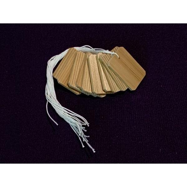 茶道具 杉木札 糸付き10個入