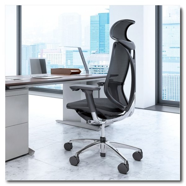オカムラ サブリナ スマートオペレーションタイプ エクストラハイバック ボディカラーブラック B885BR chairkingdom
