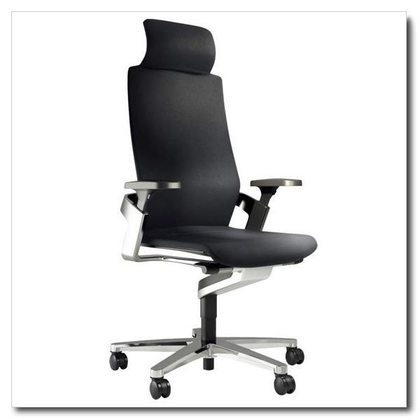 ウィルクハーン オン ヘッドレスト付きハイバックアームチェア アルミフレーム&アルミベース 張地ファイバーフレックスK3599 ※シート奥行調節機能なし|chairkingdom|02