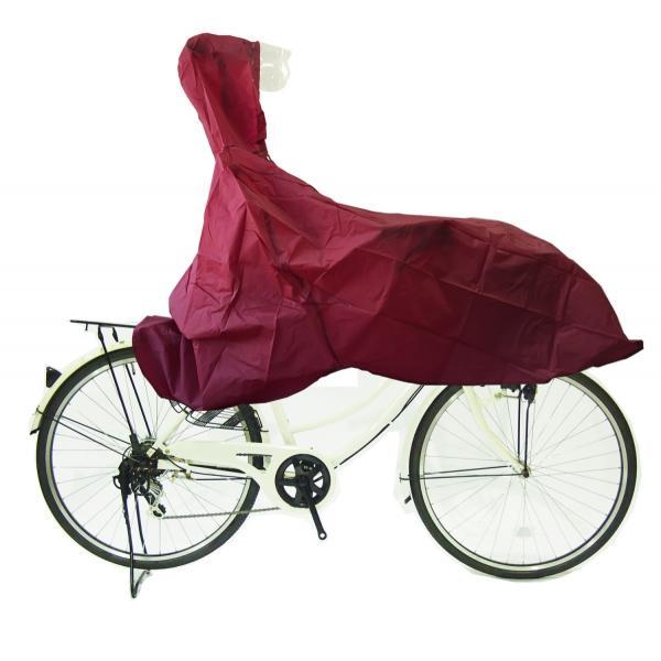 自転車用カッパ ポイント消化 前カゴの荷物も濡れません レインカッパ送料無料 メール便代引き不可|challenge21|05