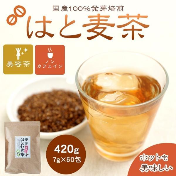 はとむぎ茶 国産 ティーパック はと麦茶 7g 60包 送料無料 ハト麦茶 はとむぎ茶 ハトムギ茶 発芽はと麦茶 健康茶